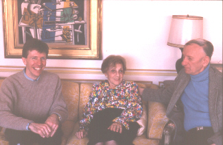 Jack Gibbons with Gershwin's sister Frankie and Edward Jablonski, New York, March 1994 (photos by Diana Sainsbury)