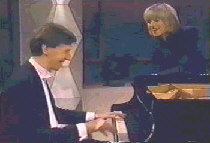 Jack Gibbons with Selina Scott on an NBC tv special